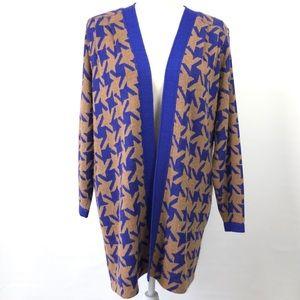 Vintage St John Wayne Open Knit Long Cardigan Rare